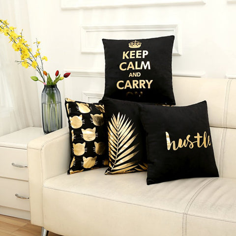 Pillow case gold&black