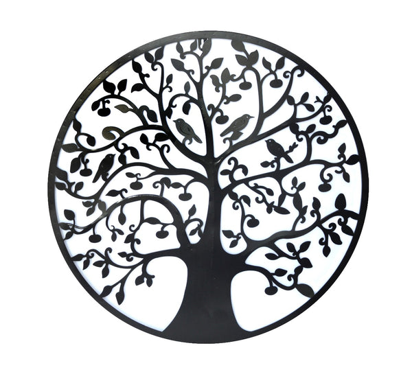 Black Tree of Life Metal Wall Hanging 60cm