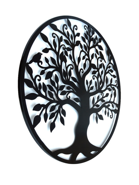 Black Tree of Life Metal Wall Hanging 99cm