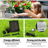 Gardeon 3 Tier Solar Powered Water Fountain - Ivory