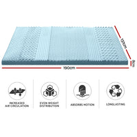 Memory Foam Mattress Topper Bamboo Cover 8CM 7-Zone Double