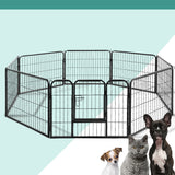 8 Panel Pet Playpen 80x60cm