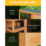 Rabbit Hutch/Chicken Coop 91.5cm x 46cm x 116.5cm