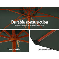 Instahut Umbrella Outdoor Pole Umbrella 3M