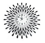 Large Modern 3D Crystal Wall Clock