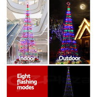 Jingle Jollys 5M LED Multicolour Christmas Tree