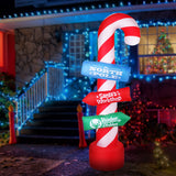 Jingle Jollys 2.4M Inflatable Santa Guide Pole