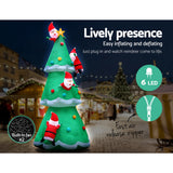 Jingle Jollys 5M Inflatable Santa on Christmas Tree