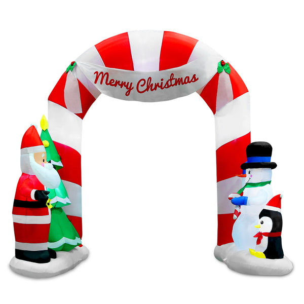 Jingle Jollys 3M Inflatable Santa and Snowman Archway