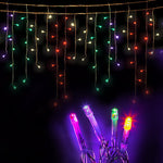Jingle Jollys LED Multicolour Icicle Lights