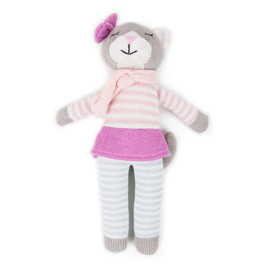 Kitty Knit Toy by Weegoamigo