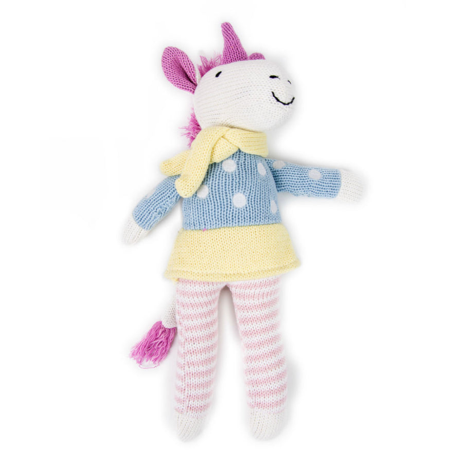 Unicorn Knit Toy by Weegoamigo