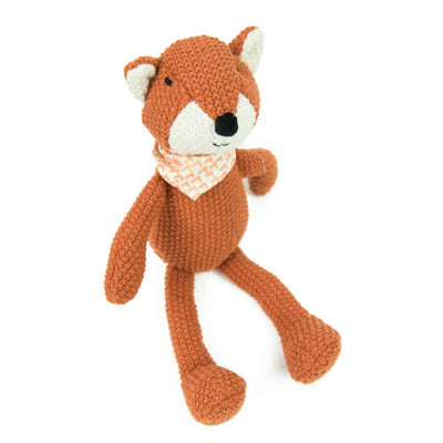 Fox Pearl Knit Toy by Weegoamigo
