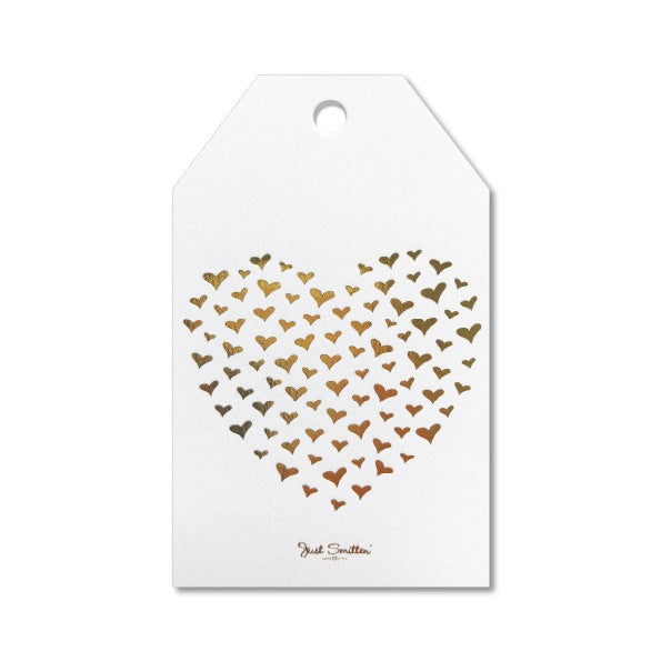 Golden Hearts Gift Tag