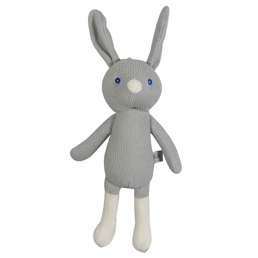 Grey Knitted Bunny by ES Kids