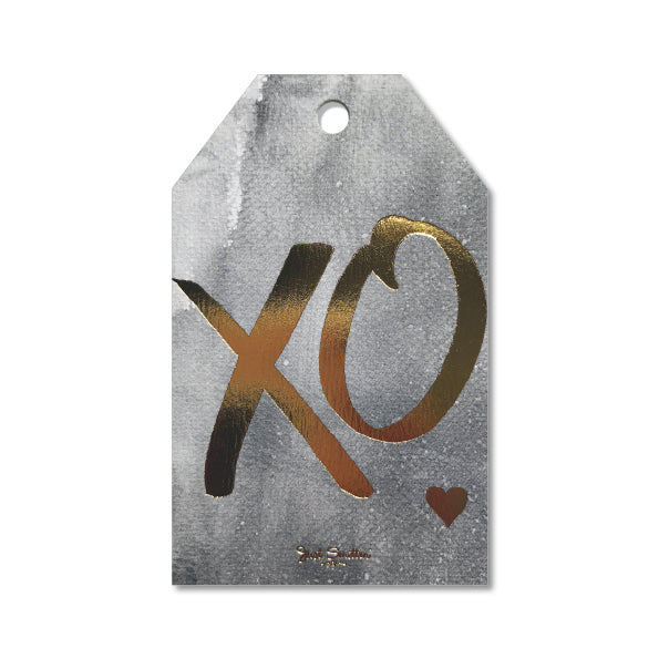 Grey Wash XO Gift Tag