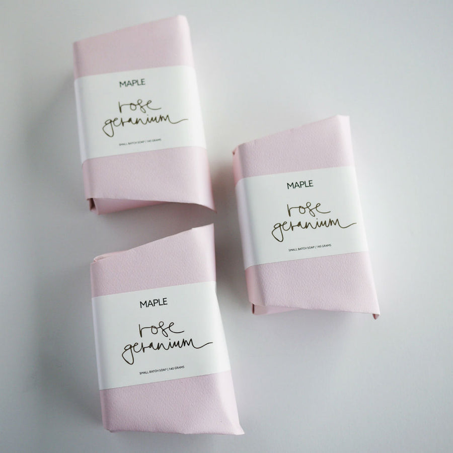 Rose Geranium Soap by Maple Soap