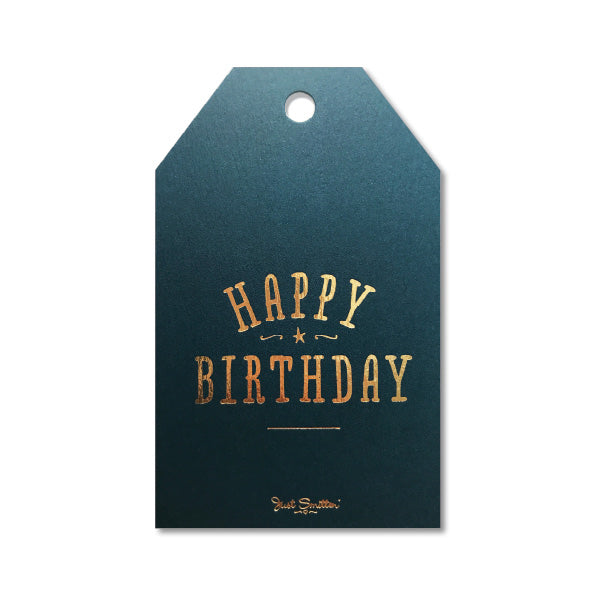 Birthday Gift Tag | Navy & Gold Foil