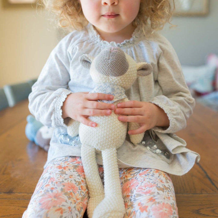 Lamb Pearl Knit Toy by Weegoamigo