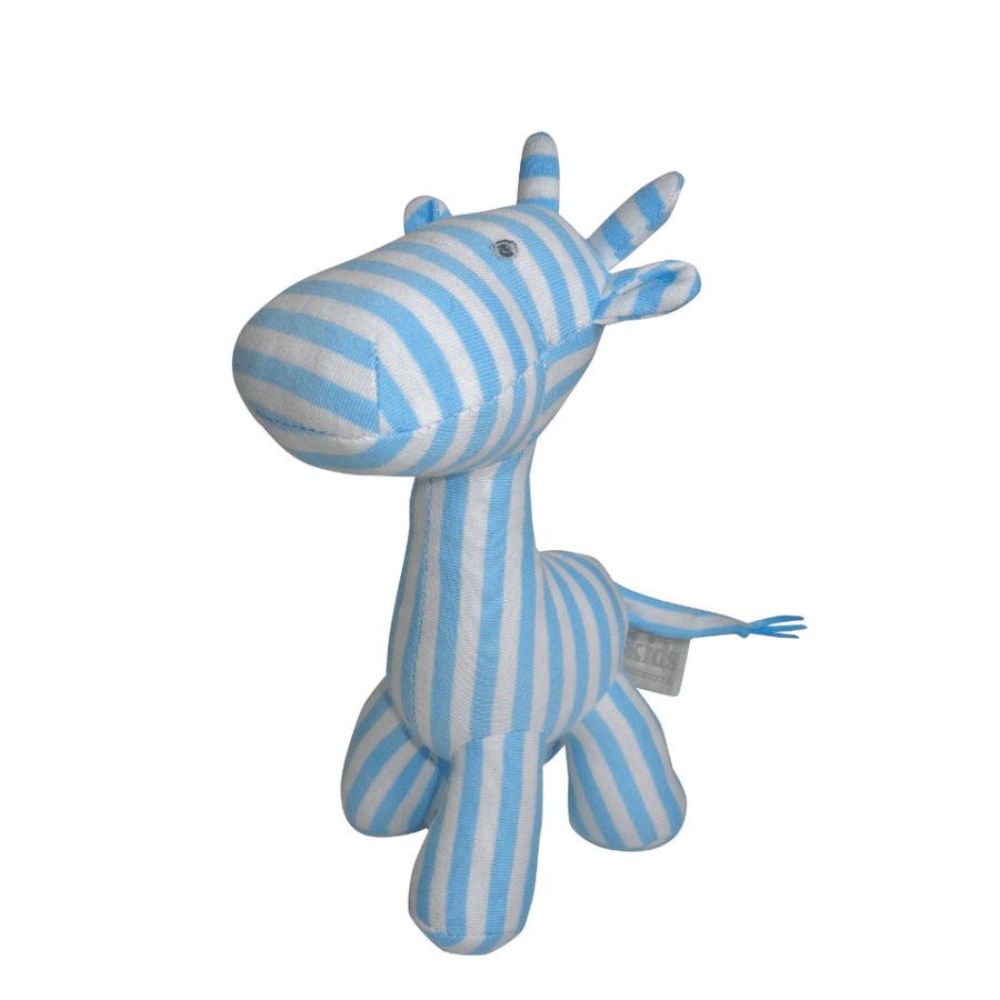 Blue Stripe Giraffe Rattle by ES Kids