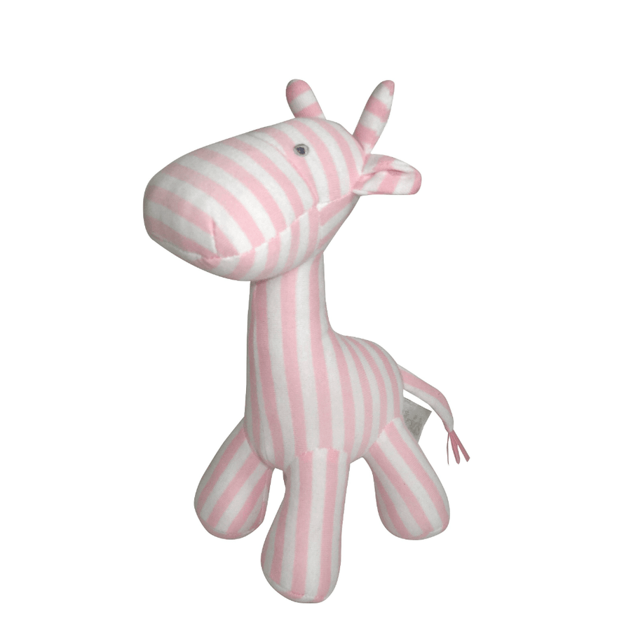 Pink Stripe Giraffe Rattle by ES Kids