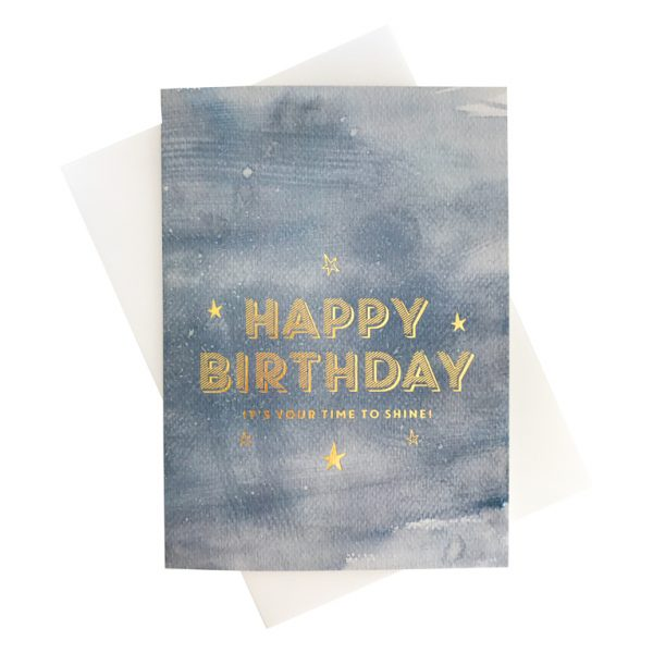 Happy Birthday Card | Time to Shine