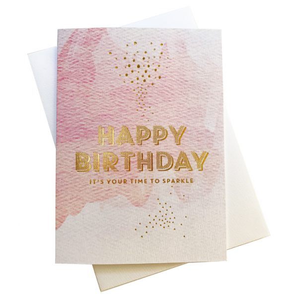 Happy Birthday Card | Time to Sparkle