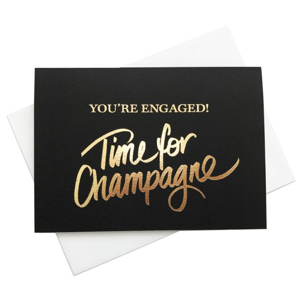 Engagement Card | Time for Champagne