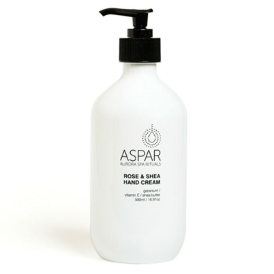 Rose & Shea Hand Cream 500mL Pump by ASPAR