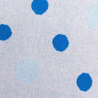 Blue Polka Dot Baby Blanket by Mint & Me