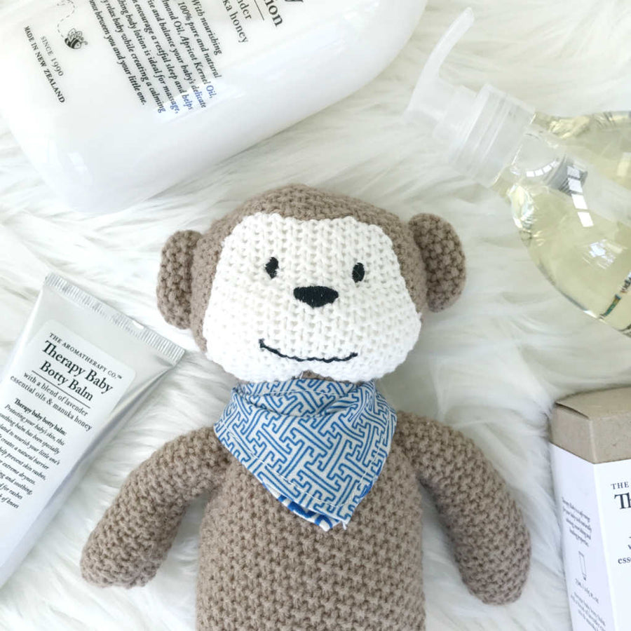 Monkey Pearl Knit Toy by Weegoamigo