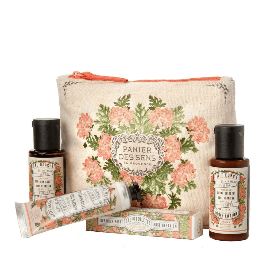 ROSE GERANIUM TRAVEL SET BY PANIER DES SENS