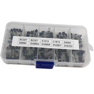 Transistors Box Kit, NPN/PNP, TO-92, 10 types(20 pcs each): Total: 200pcs, FREE SHIPPING