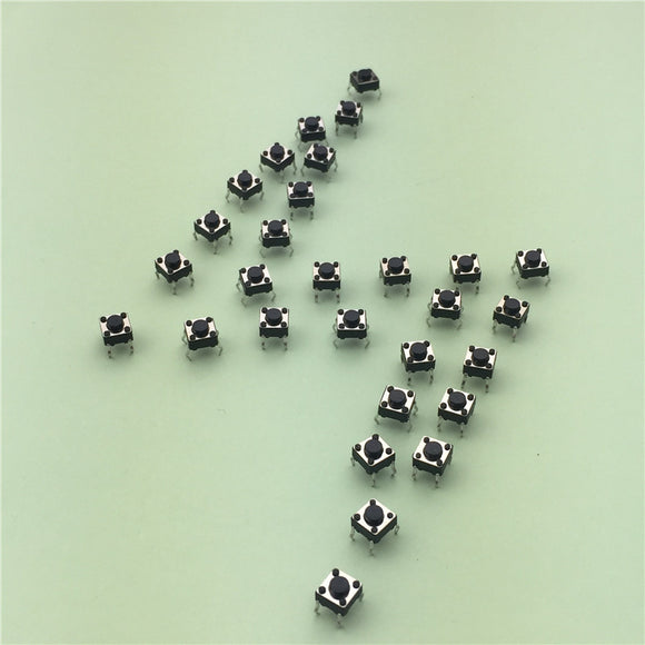 Push Button Switches(Momentary), Dim: 6mmX6mmX4.3mm, Qty: 50pcs, FREE SHIPPING