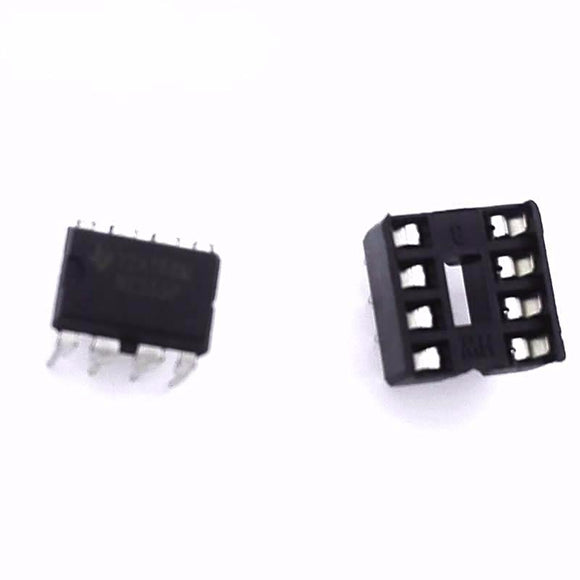 Timer DIP NE555 & 8 PINS DIP Sockets, Qty:10 each, Total Qty:20pcs, FREE SHIPPING