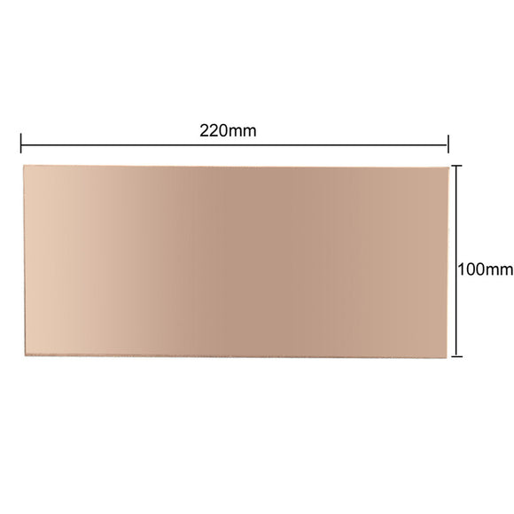 PCB Copper Clad, Double-Sided, 220mm X 100mm X 1.5mm, FR4, FREE SHIPPING