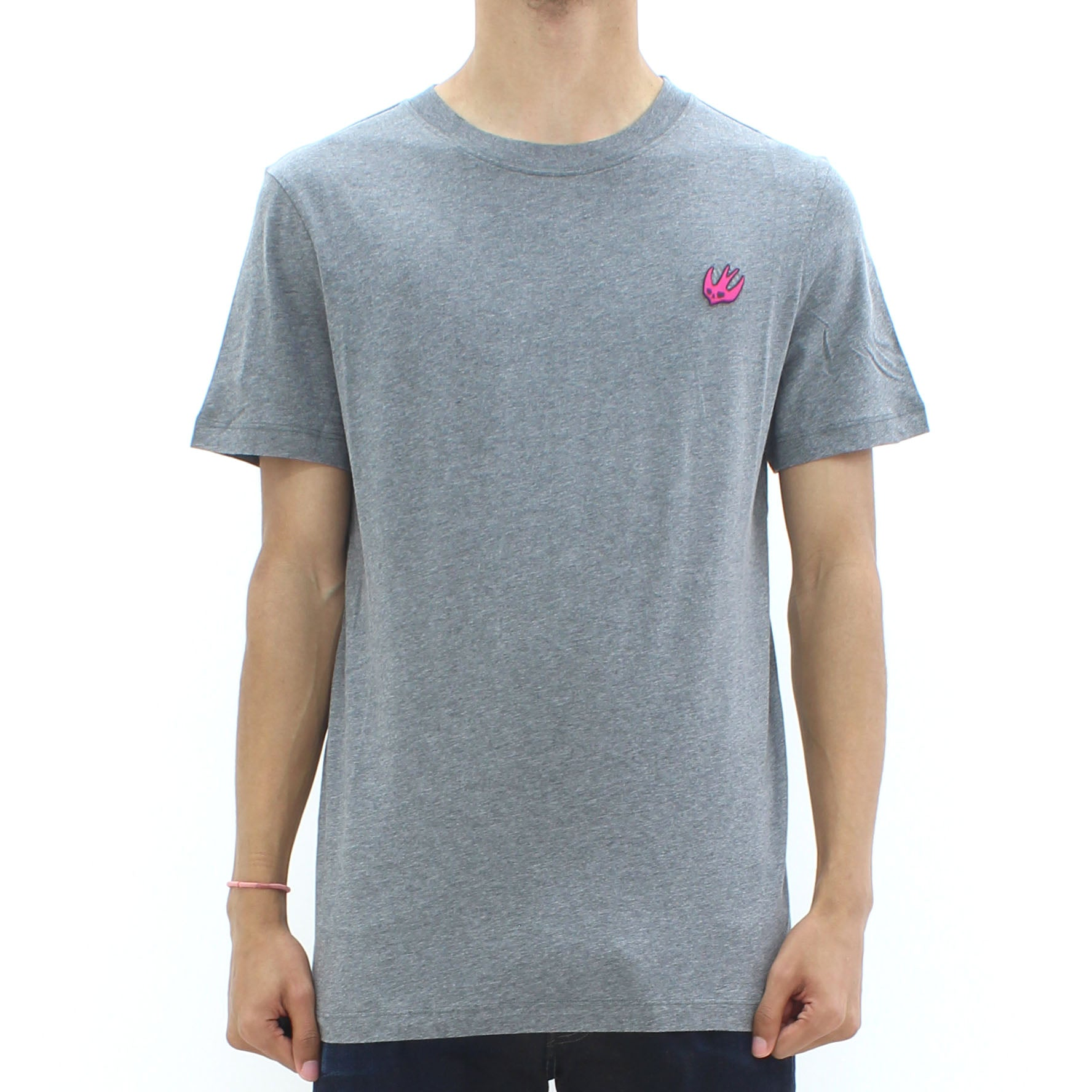 Swallow By McQ Classic Swallow Logo Tee Grey