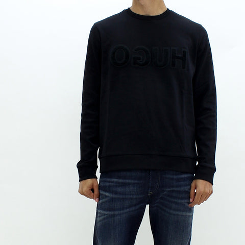 Hugo By Hugo Boss Dicagor Sweat Top Black - Pilot Netclothing