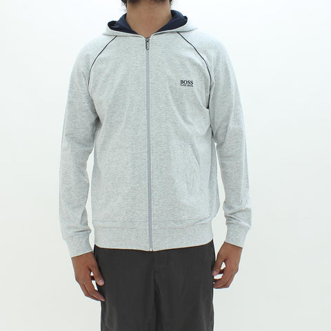 Boss By Hugo Mix And Match Hooded Sweat Shirt Grey