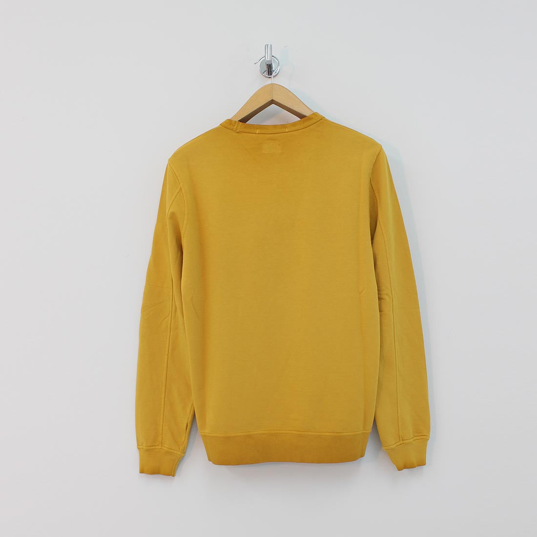 CP Company Arm Lens Crew Sweat Yellow