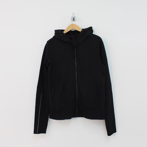 Thom Krom Seam Detail Hooded Top Black - Pilot Netclothing