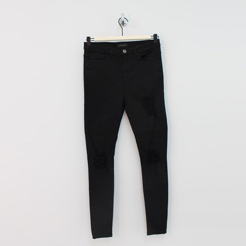 Sinners Attire Spray On Distressed Jeans Black - Pilot Netclothing