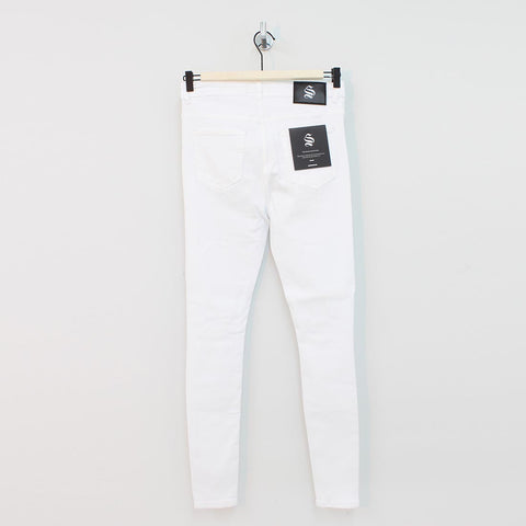 Sinners Attire Spray On Distressed Jeans White - Pilot Netclothing