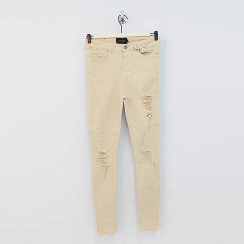 Sinners Attire Spray On Distressed Jeans Sand - Pilot Netclothing