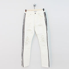 Embellish Bolt Standard Denim Jeans White