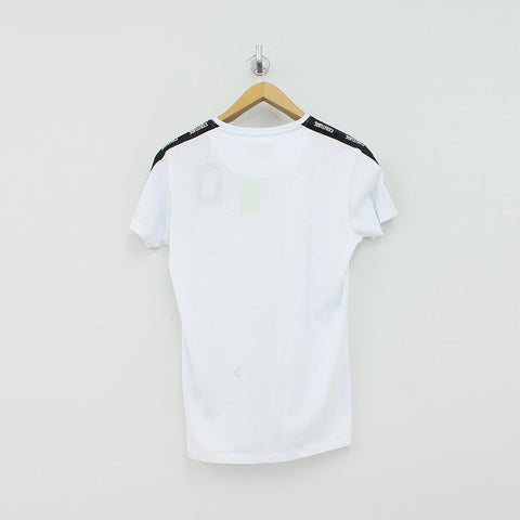 Fresh Couture Taped Arm T-Shirt White - Pilot Netclothing
