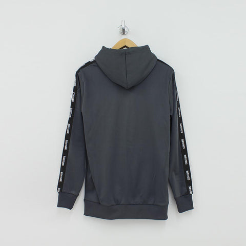 Fresh Couture Taped Arm Hooded Track Jacket Grey - Pilot Netclothing