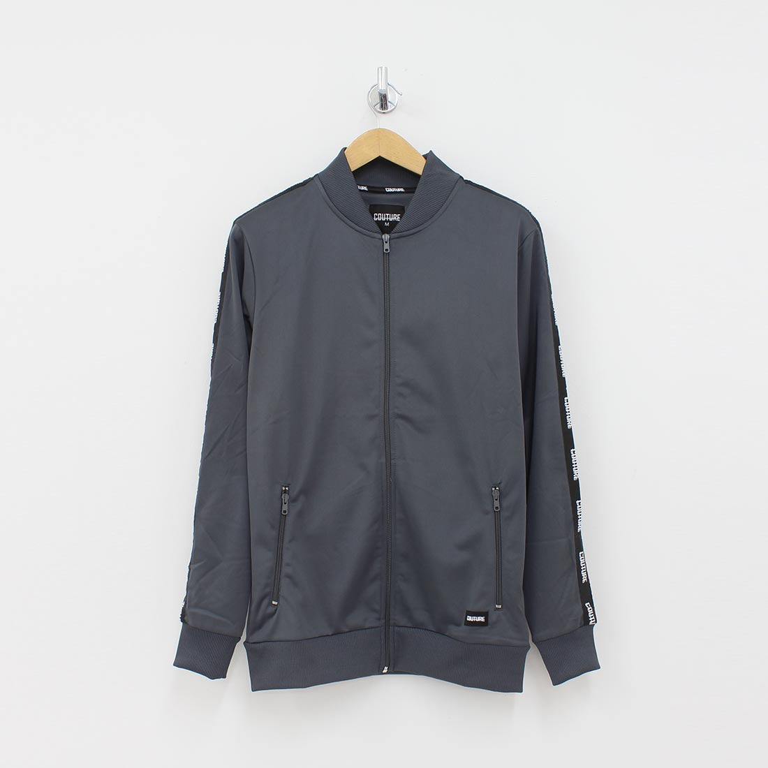 Fresh Couture Taped Arm Track Jacket Grey