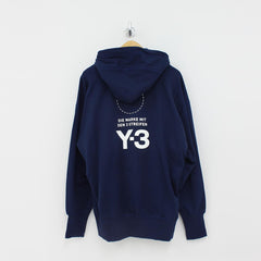 Adidas Y3 STKD Hooded Top Navy