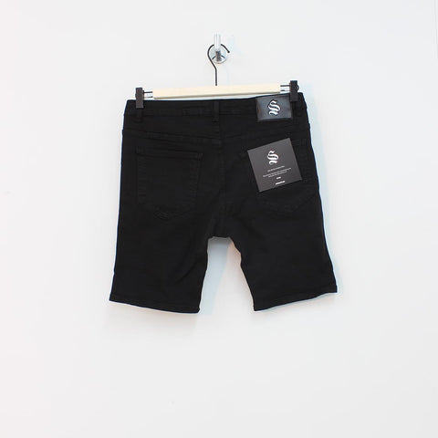 Sinners Attire Rip And Repair Shorts Black - Pilot Netclothing